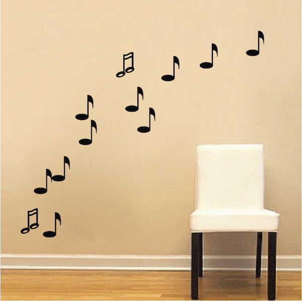 Music Note Wall Decals Trendy Wall Designs