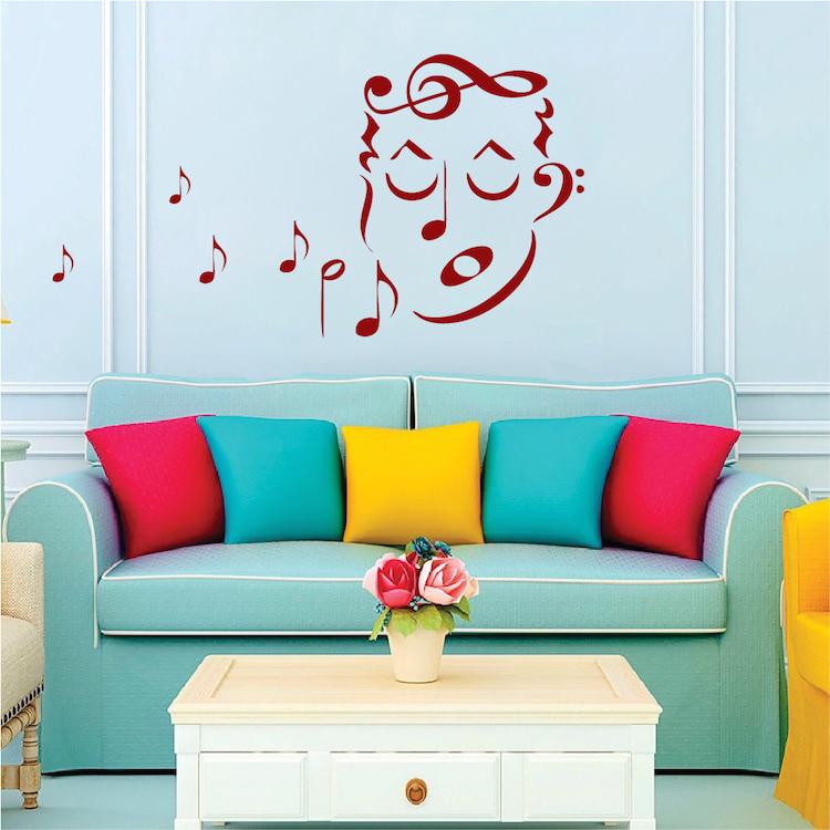 Music Singer Wall Art Decal