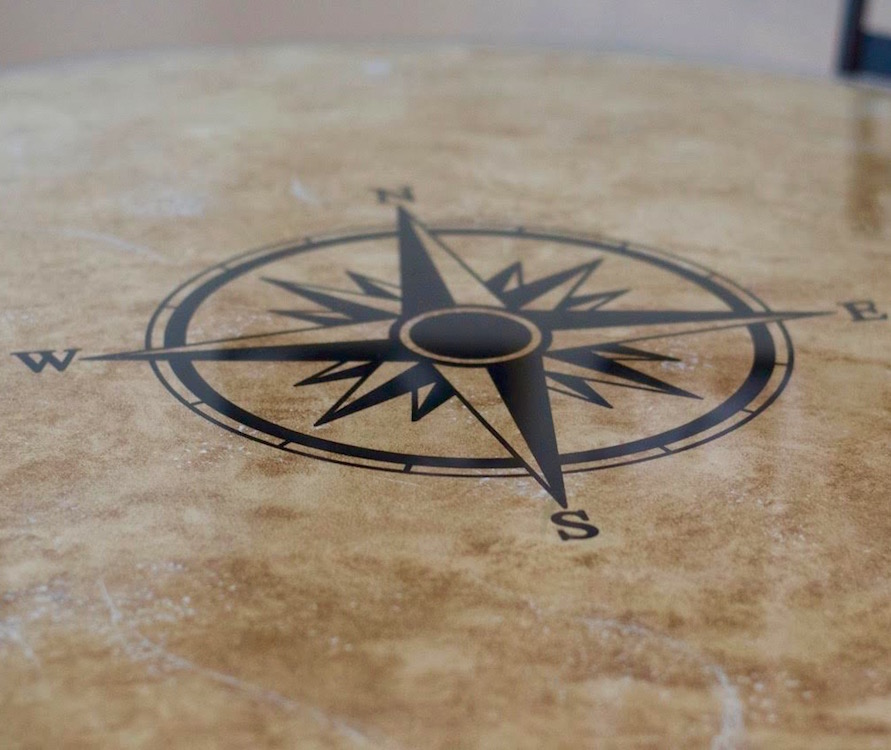 Direction Compass Decal Compass Table Compass