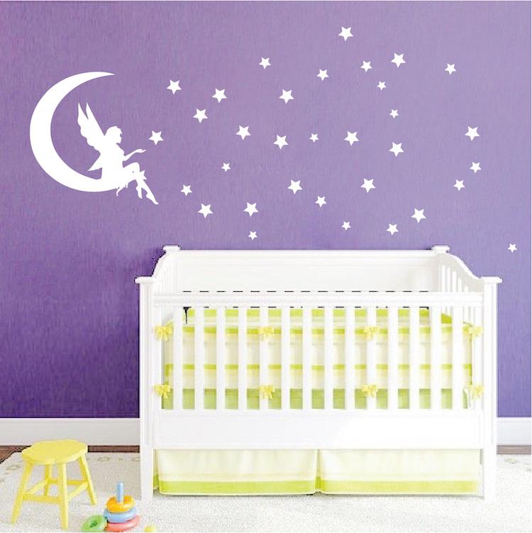 Fairy Bedroom Wall Decal _ Magical Girls Room Vinyl Sticker Mural _ ...
