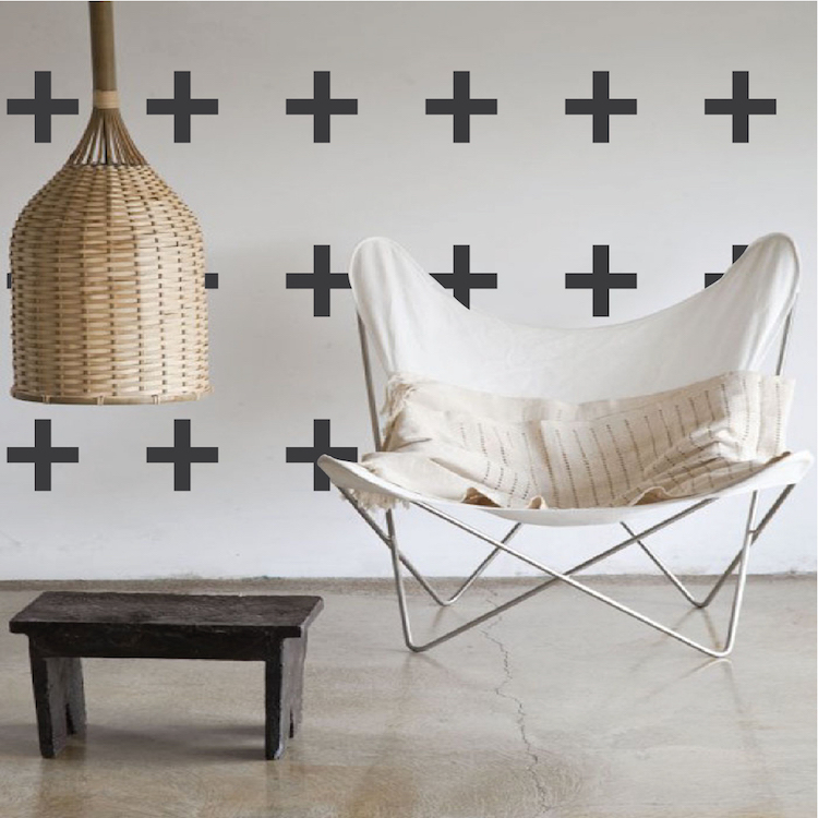 Plus Sign Wall Decals - Bedroom Decals - Trendy Wall Designs