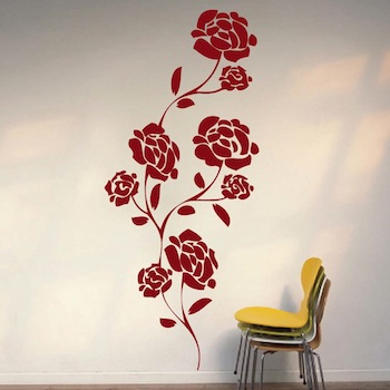 Pretty Flower Wall Decal From Trendy Wall Designs