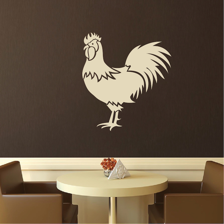 Rooster Art Decal Decor Modern Home Art Trendy Wall