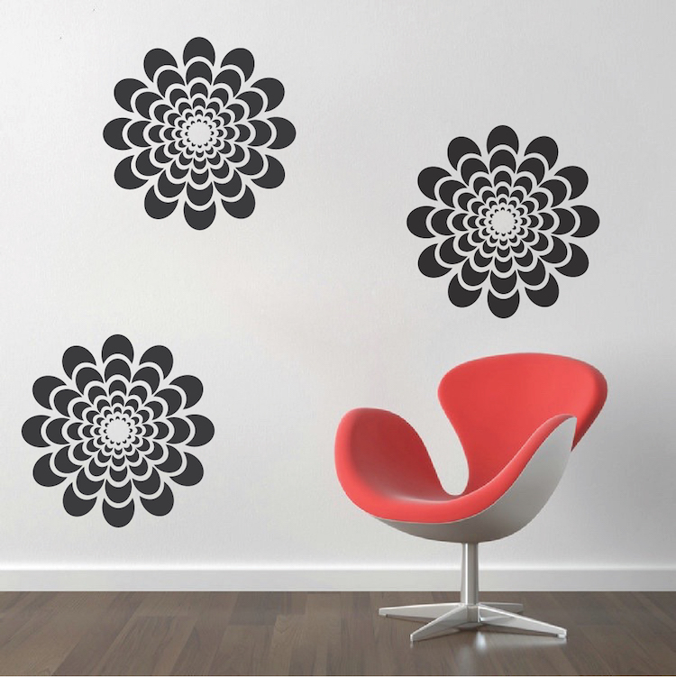 Flower Wall Decal Bedroom Wall Sticker Murals Removable Wall