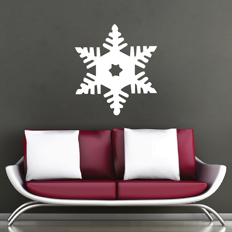 Snowflake Wall Decal Christmas Decals Self Adhesive