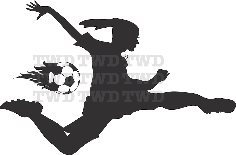 soccer girl wall decal - trendy wall designs