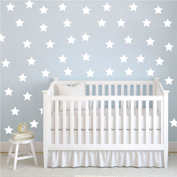 bedroom stars wall decals - trendy wall designs