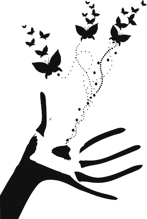 Butterflies Hand Wall Decal Amp Wall Decals From Trendy Wall