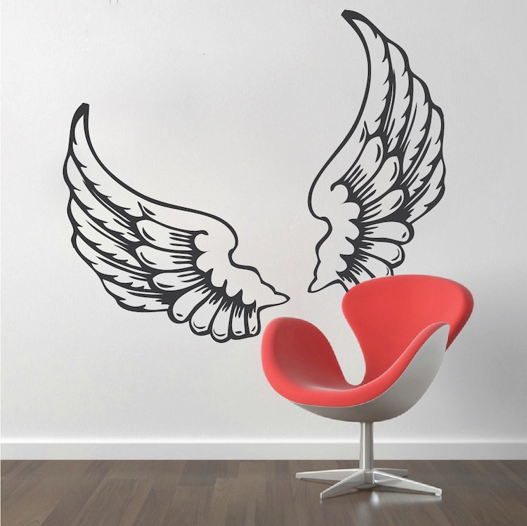 wings wall decal - trendy wall designs