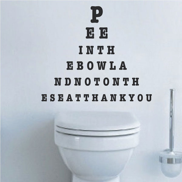 Wall Quotes | Funny Bathroom Wall Decals Trendywalldesigns Com