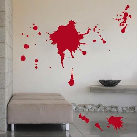 Blood Splash Wall Art Design Trendy Wall Designs