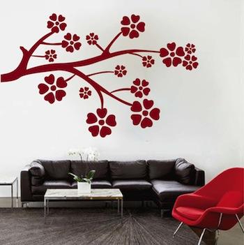 Flower Branch Wall Pop - Trendy Wall Designs