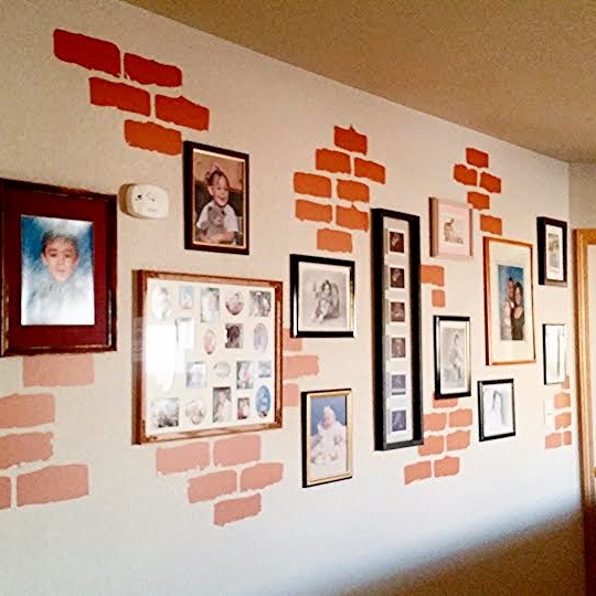 brick wall decals | trendy wall designs