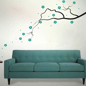 Elegant Flower Branch Wall Decal Wall Decals Trendy