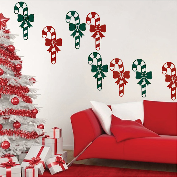 Candy Cane Wall Decals Trendy Wall Designs