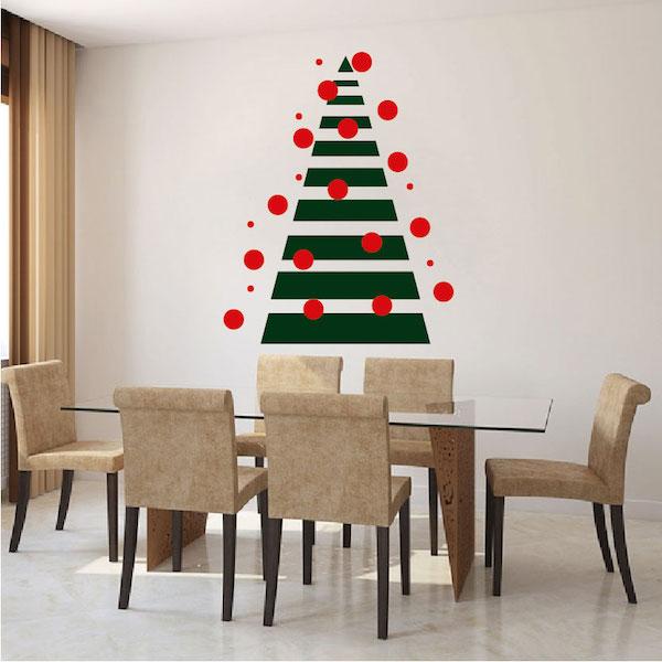 Diy Geometric Christmas Tree Wall Decal