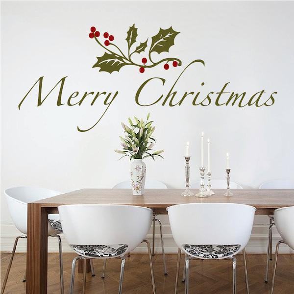 Beautiful Christmas Vinyl Wall Decal - Trendy Wall Designs