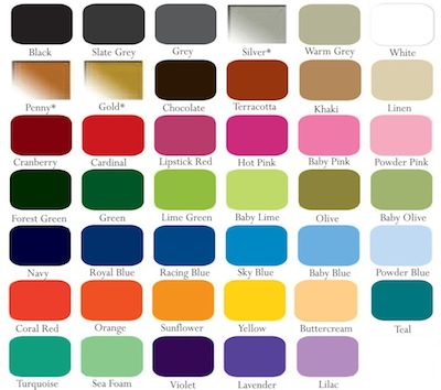 Color Chart Trendy Wall Designs
