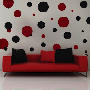 Black Polka Dot Wall Stickers