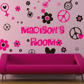 Hippie Wall Decals Amp Teens Wall Murals From Trendy Wall