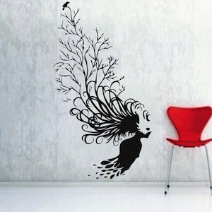 Abstract Tree Hair Wall Decal From Trendy Wall Designs