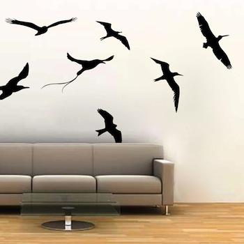flying sea birds wall decals | trendywalldesigns