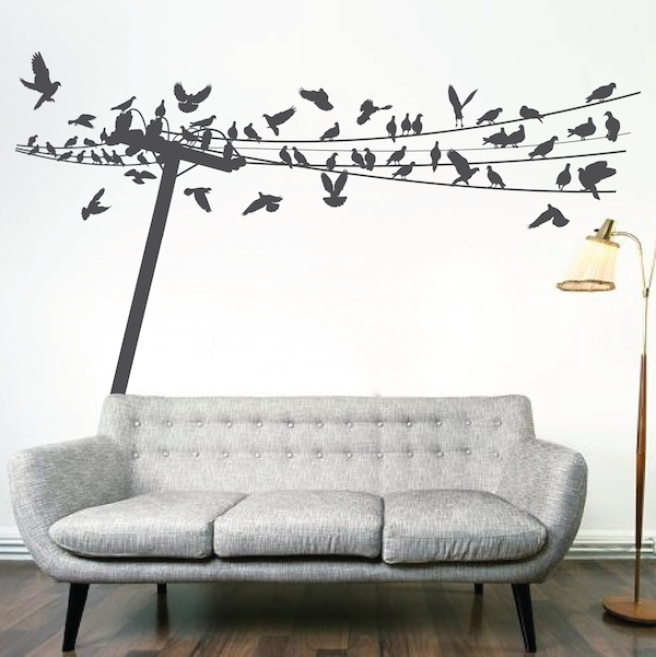 Birds On Wire Wall Decal Trendy Wall Designs