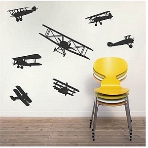 Airplane Wall Decals Kids Bedroom Decor Removable Wall