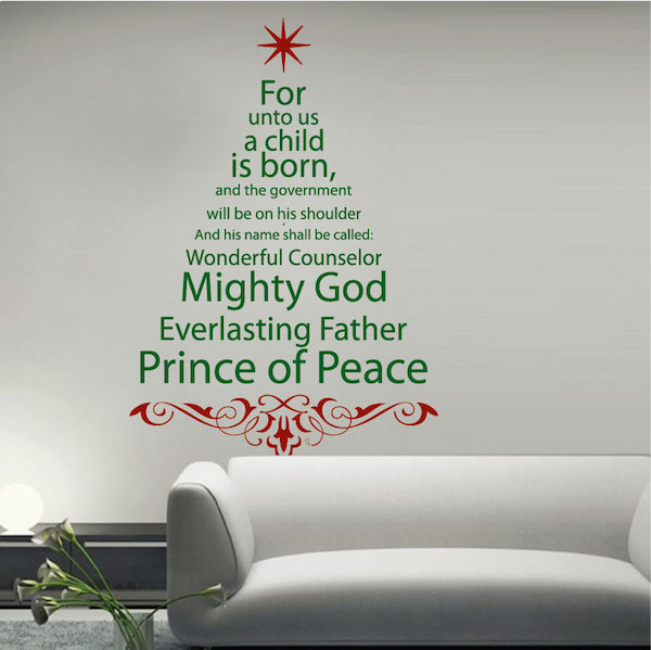 spiritual christmas tree wall decal - trendy wall designs