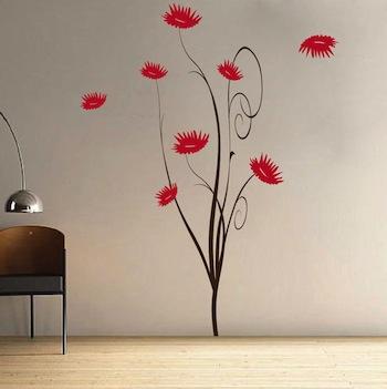 trendy flower tree wall decal | trendy wall designs
