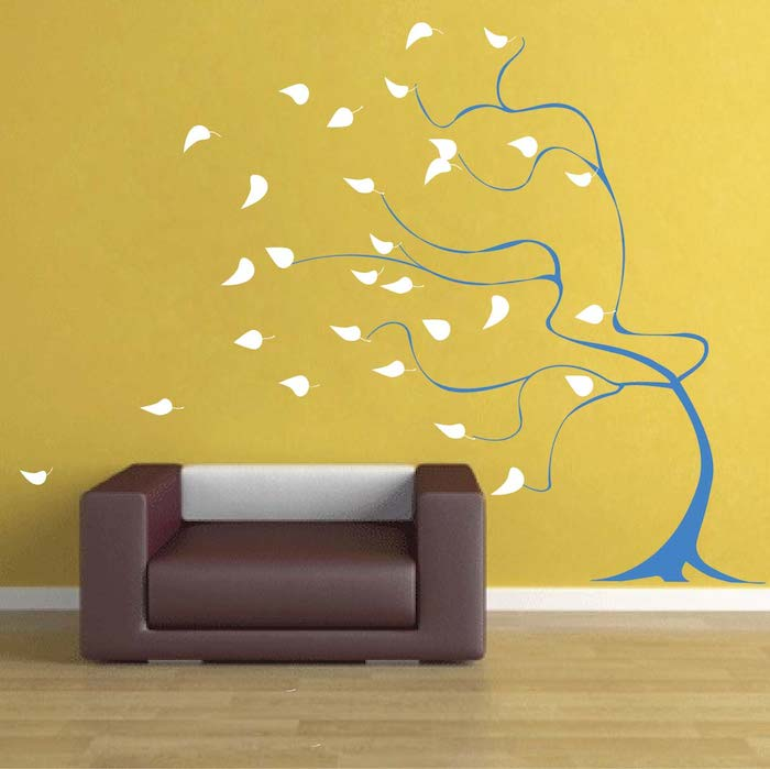 Windy Tree Wall Art Design Trendy Designs