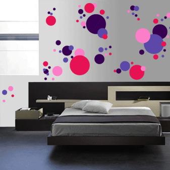 Cool Polka Dots Wall Art Design Trendy Wall Designs