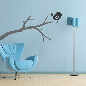 Bird on a Branch Wall Decal