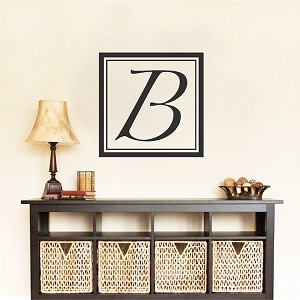 Square Initial Wall Decal