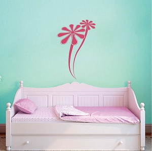 Two Daisies Wall Decal