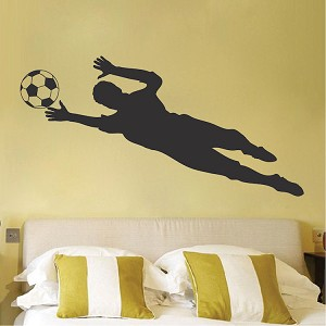 Soccer Goalie Wall Decal Sticker