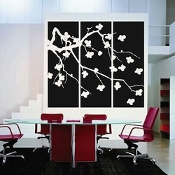 Cherry Blossom Panel Wall Art Design