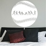 Baseball Fielder Action Wall Decal