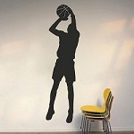 Basketball Player Wall Art Appliqué