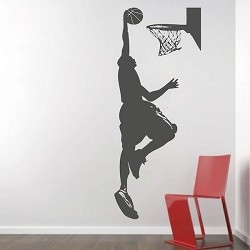 Basketball In The Hoop Wall Decal