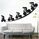 Bicycling Wall Decal Sticker