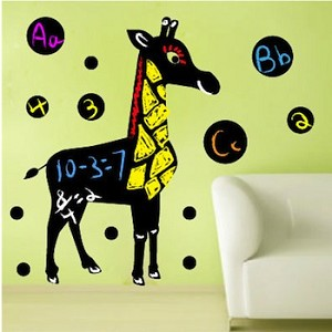 Cute Giraffe Chalkboard Wall  Decal