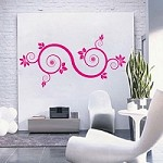Floral Ornament Wall Art Decal