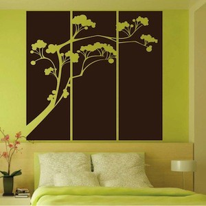 Popsicle Tree Panel Wall Decal