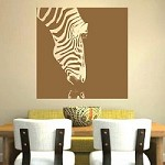 Zebra Drinking Wall Decal