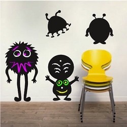 Lil' Monsters Chalkboard Wall Decals