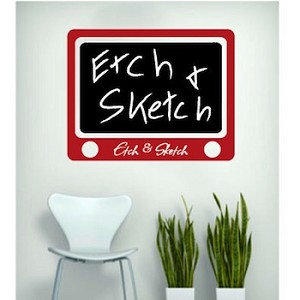 Etch & Sketch Chalkboard Wall Decal