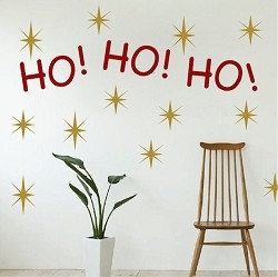 Ho Ho Ho Holiday Wall Decal