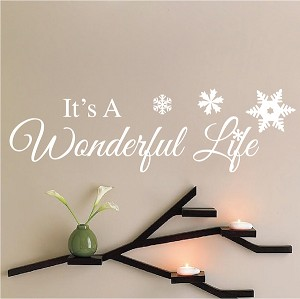 It's a Wonderful Life Holiday Decal Sticker