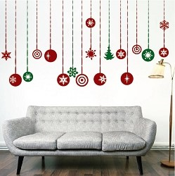 Christmas Hanging Ornament Wall Decals